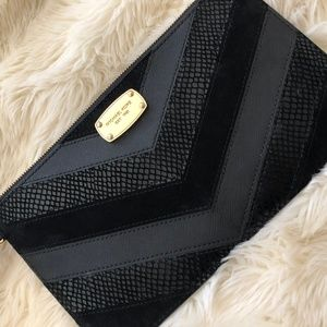 Authentic Michael Kors Snakeskin & Velvet Wristlet